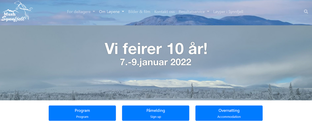 Nettsider oppdatert med informasjon for 2022