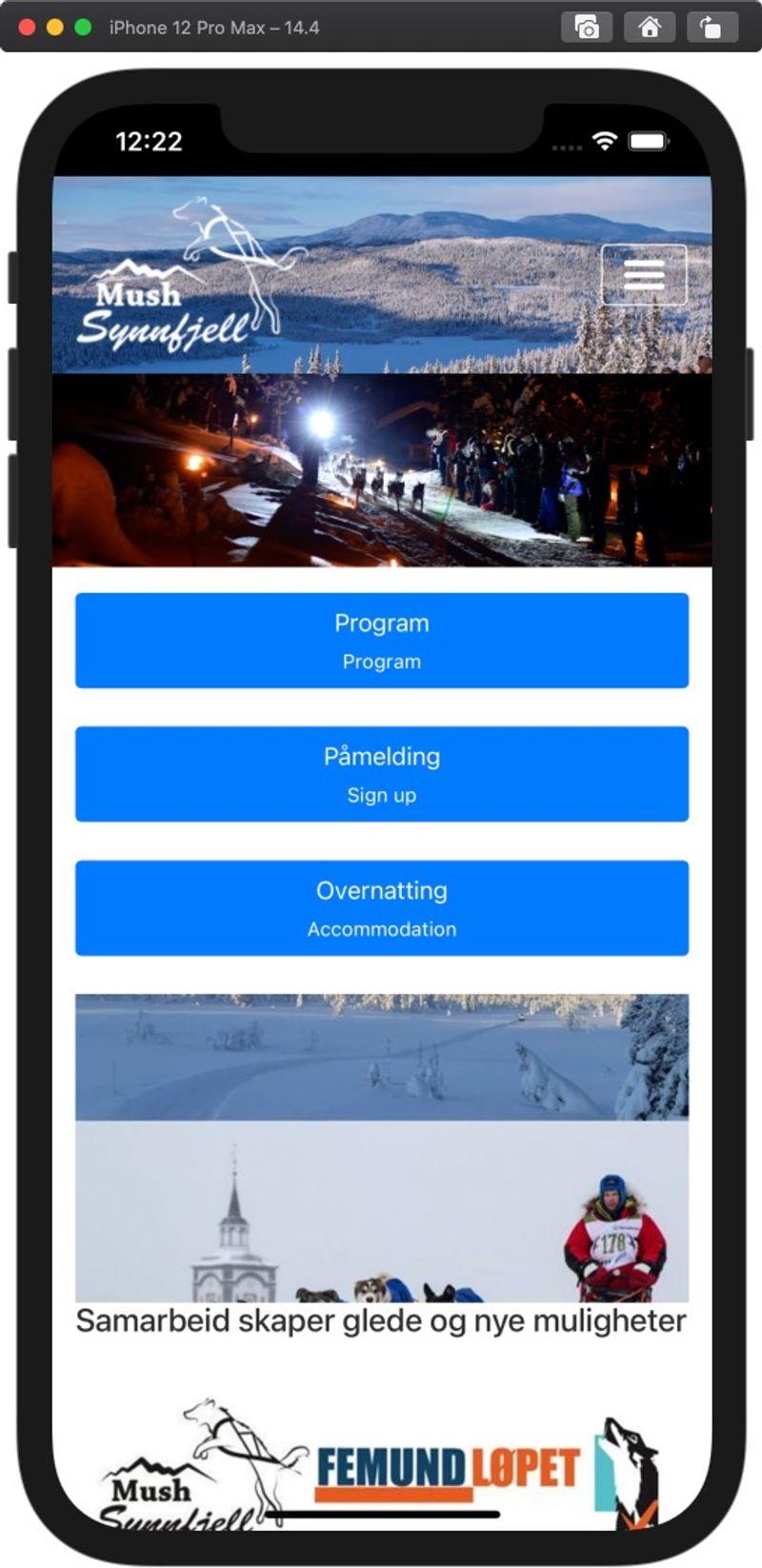 Når du åpner appen, så vil den fylle hele skjermen og det er super enkelt å følge med på siden.
